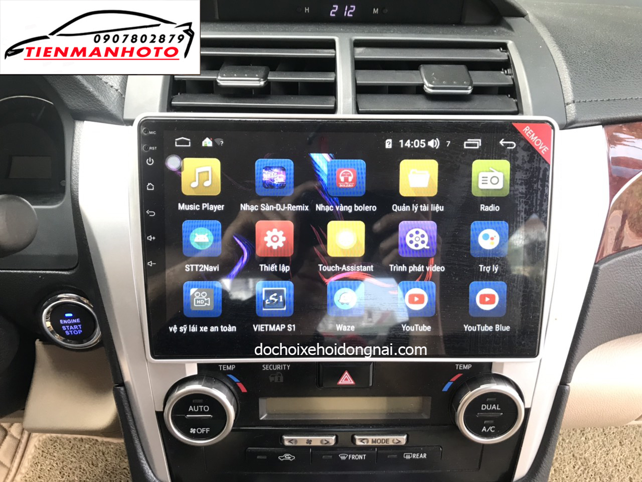 man hinh android camry