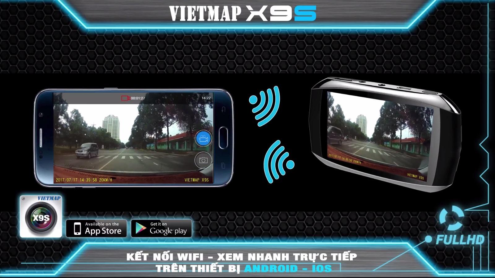 Gắn Camera Hành Trình Cho Ô Tô Xem Trên Điện Thoại Tại Hóc Môn | VietMap X9S